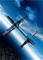 Space station, artwork Stock Photo - Premium Royalty-Freenull, Code: 679-04250101