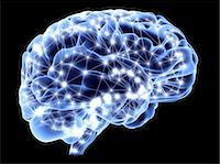 Brain, neural network Stock Photo - Premium Royalty-Freenull, Code: 679-04250508