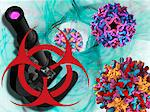 Viral pathogens, conceptual artwork Stock Photo - Premium Royalty-Free, Artist: Oriental Touch           , Code: 679-04250579