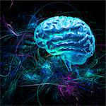 Brain research, conceptual artwork Stock Photo - Premium Royalty-Free, Artist: foodanddrinkphotos, Code: 679-04250591