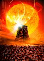 End of the World in 2012 conceptual image Stock Photo - Premium Royalty-Freenull, Code: 679-04250787