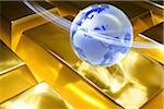 Globe on gold ingots Stock Photo - Premium Royalty-Free, Artist: Ron Fehling, Code: 618-04251443
