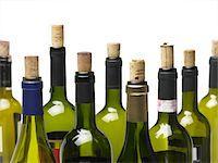 Wine bottles isolated Stock Photo - Premium Royalty-Freenull, Code: 618-04251569
