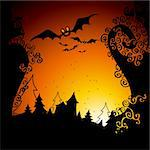 halloween,  this illustration may be useful as designer work Stock Photo - Royalty-Free, Artist: Lady_Aqua                     , Code: 400-04255714
