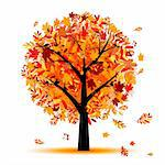 Beautiful autumn tree for your design Stock Photo - Royalty-Free, Artist: Kudryashka                    , Code: 400-04256423
