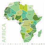 vector map of Africa Stock Photo - Royalty-Free, Artist: emirsimsek                    , Code: 400-04258304