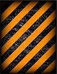 Grunge black and orange warning background with grunge effect Stock Photo - Royalty-Free, Artist: emaria                        , Code: 400-04258767