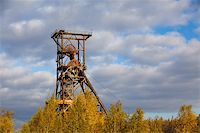 shaft - Coal mine in autumn forest Stock Photo - Royalty-Freenull, Code: 400-04258953