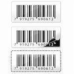 illustration of different barcode stickers Stock Photo - Royalty-Free, Artist: get4net                       , Code: 400-04259550