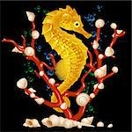 Sea horse Stock Photo - Royalty-Free, Artist: denis13                       , Code: 400-04259755