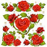 Red Rose design elements
