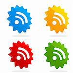 illustration of set of rss icons on white isolated background Stock Photo - Royalty-Free, Artist: get4net                       , Code: 400-04260489