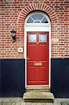Period front door in a brick facade Stock Photo - Royalty-Free, Artist: nixoncreative                 , Code: 400-04260634