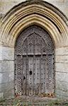 Gothic style door in a sandstone wall in the historic city of norwich Stock Photo - Royalty-Free, Artist: nixoncreative                 , Code: 400-04260635