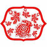 Chinese style of paper cut for year of the rabbit. Stock Photo - Royalty-Free, Artist: mylefthand                    , Code: 400-04261622
