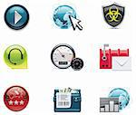 Set of the computer networking icons Stock Photo - Royalty-Free, Artist: tele52                        , Code: 400-04263052