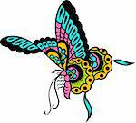 colorful butterfly illustration Stock Photo - Royalty-Free, Artist: pauljune                      , Code: 400-04265112