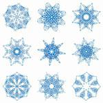 Abstract Christmas snowflake consisting of set of elements Stock Photo - Royalty-Free, Artist: SSylenko                      , Code: 400-04265441