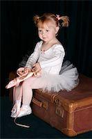 Little ballet toddler wearing a white tutu   Stock Photo - Royalty-Freenull, Code: 400-04265483