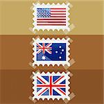 illustration of flag of different countries stic together