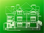 CAD elevations for a house front rear and sides Stock Photo - Royalty-Free, Artist: emaria                        , Code: 400-04266445