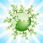 illustration of recycle globe Stock Photo - Royalty-Free, Artist: get4net                       , Code: 400-04266661