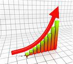 Chart with Arrow in 3D uprising Stock Photo - Royalty-Free, Artist: novelo                        , Code: 400-04267814