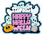 Happy Halloween theme 3 - vector illustration. Stock Photo - Royalty-Free, Artist: clairev                       , Code: 400-04267948
