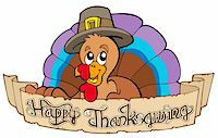 pilgrimartworks - Happy Thanksgiving theme 1 - vector illustration. Stock Photo - Royalty-Freenull, Code: 400-04267956