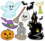 Set of Halloween images - vector illustration. Stock Photo - Royalty-Free, Artist: clairev                       , Code: 400-04267982