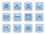 illustration of a set of business and finance internet icons Stock Photo - Royalty-Free, Artist: Krisdog                       , Code: 400-04269351