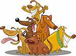 cartoon illustration of funny dogs group Stock Photo - Royalty-Free, Artist: izakowski                     , Code: 400-04269358