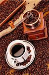 Hot coffee and chocolate with specials Stock Photo - Royalty-Free, Artist: FikMik                        , Code: 400-04270485