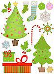 christmas set Stock Photo - Royalty-Free, Artist: dip                           , Code: 400-04271249