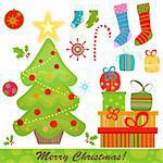 christmas set Stock Photo - Royalty-Free, Artist: dip                           , Code: 400-04271255