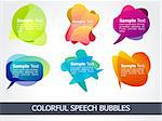 abstract colorful speech bubble  vector illustration Stock Photo - Royalty-Free, Artist: pathakdesigner                , Code: 400-04271385