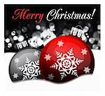 Defocused abstract background with Christmas balls illustration Stock Photo - Royalty-Free, Artist: sermax55                      , Code: 400-04271809