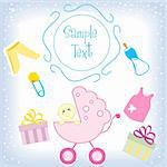 illustration of kids card Stock Photo - Royalty-Free, Artist: get4net                       , Code: 400-04272518