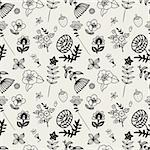 seamless flower pattern Stock Photo - Royalty-Free, Artist: notkoo2008                    , Code: 400-04273360