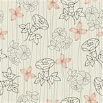 seamless flower pattern Stock Photo - Royalty-Free, Artist: notkoo2008                    , Code: 400-04273363