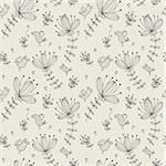 seamless flower pattern Stock Photo - Royalty-Free, Artist: notkoo2008                    , Code: 400-04273367