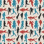 people run seamless pattern Stock Photo - Royalty-Free, Artist: notkoo2008                    , Code: 400-04273380