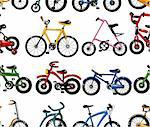 seamless bicycle pattern Stock Photo - Royalty-Free, Artist: notkoo2008                    , Code: 400-04273601