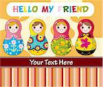 cartoon Russian dolls Stock Photo - Royalty-Free, Artist: notkoo2008                    , Code: 400-04273610
