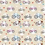 seamless bicycle pattern Stock Photo - Royalty-Free, Artist: notkoo2008                    , Code: 400-04273619