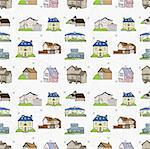 seamless house pattern Stock Photo - Royalty-Free, Artist: notkoo2008                    , Code: 400-04273751