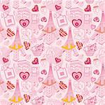 seamless Paris pattern Stock Photo - Royalty-Free, Artist: notkoo2008                    , Code: 400-04273781