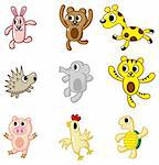 cartoon animal icon Stock Photo - Royalty-Free, Artist: notkoo2008                    , Code: 400-04273839