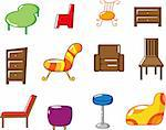 cartoon furniture icon Stock Photo - Royalty-Free, Artist: notkoo2008                    , Code: 400-04273854