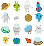 cartoon Outer space icon Stock Photo - Royalty-Free, Artist: notkoo2008                    , Code: 400-04273874